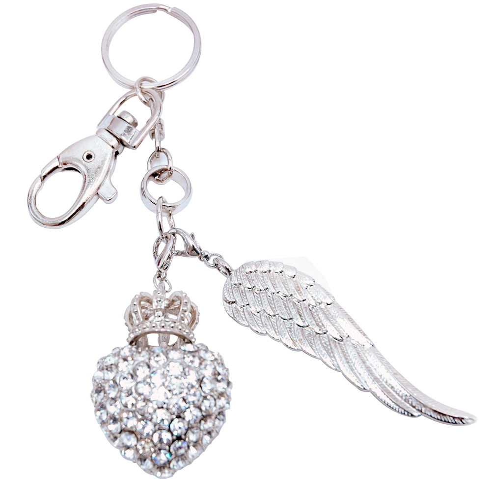 Rhinestone Crown Key Chain