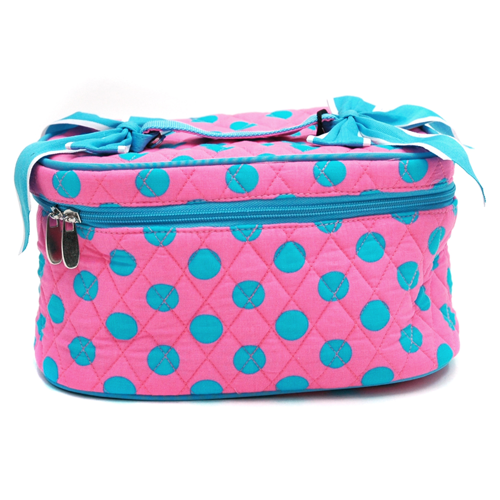 Fashlets Generic Quilted Polka Dot Cosmetic Bag