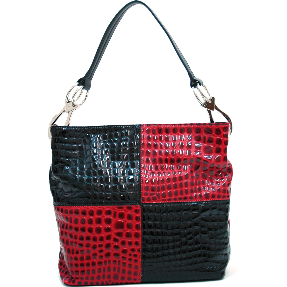 Dasein Kroco® Two-Tone Hobo