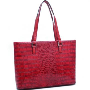 Dasein Croco Chic Fashion Tote