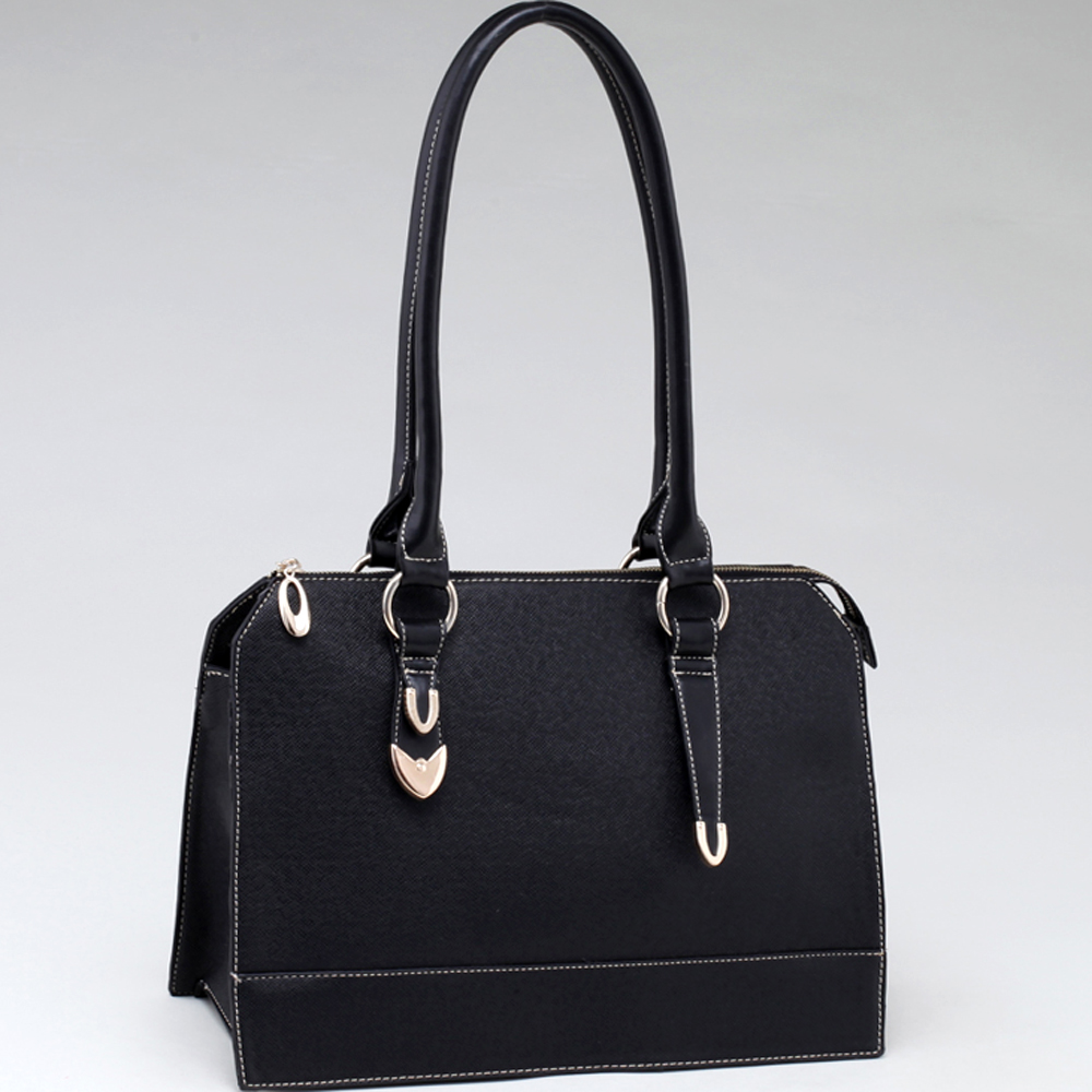 Two Toned Box Fashion Tote