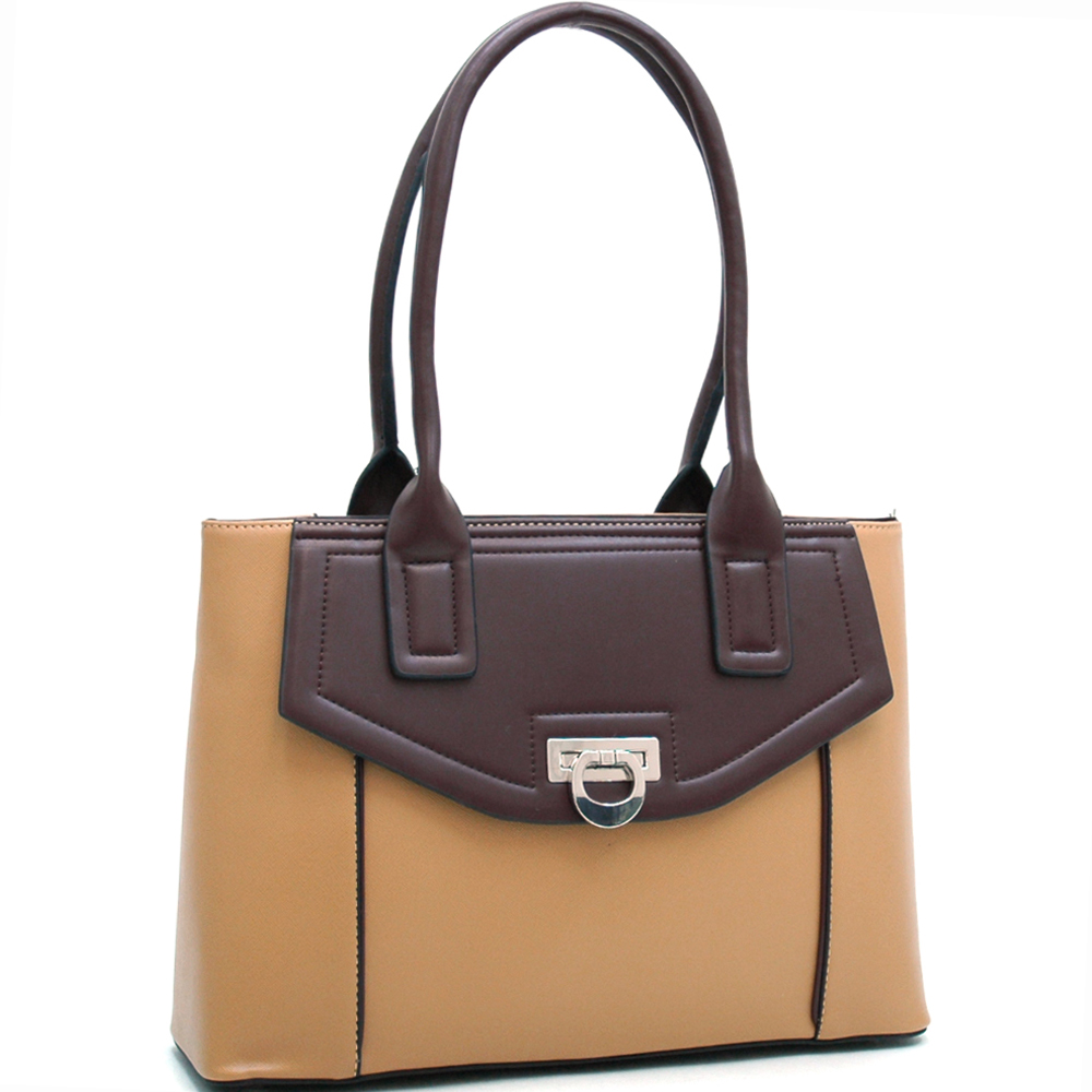 Classic Chic Two Tone Shoulder Bag