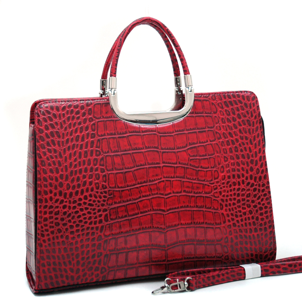Dasein Kroco® Soft Croco Briefcase