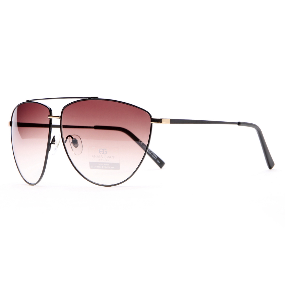 Ultra Thin Classic Unisex Frame Sunglasses w/ Oblong Lenses