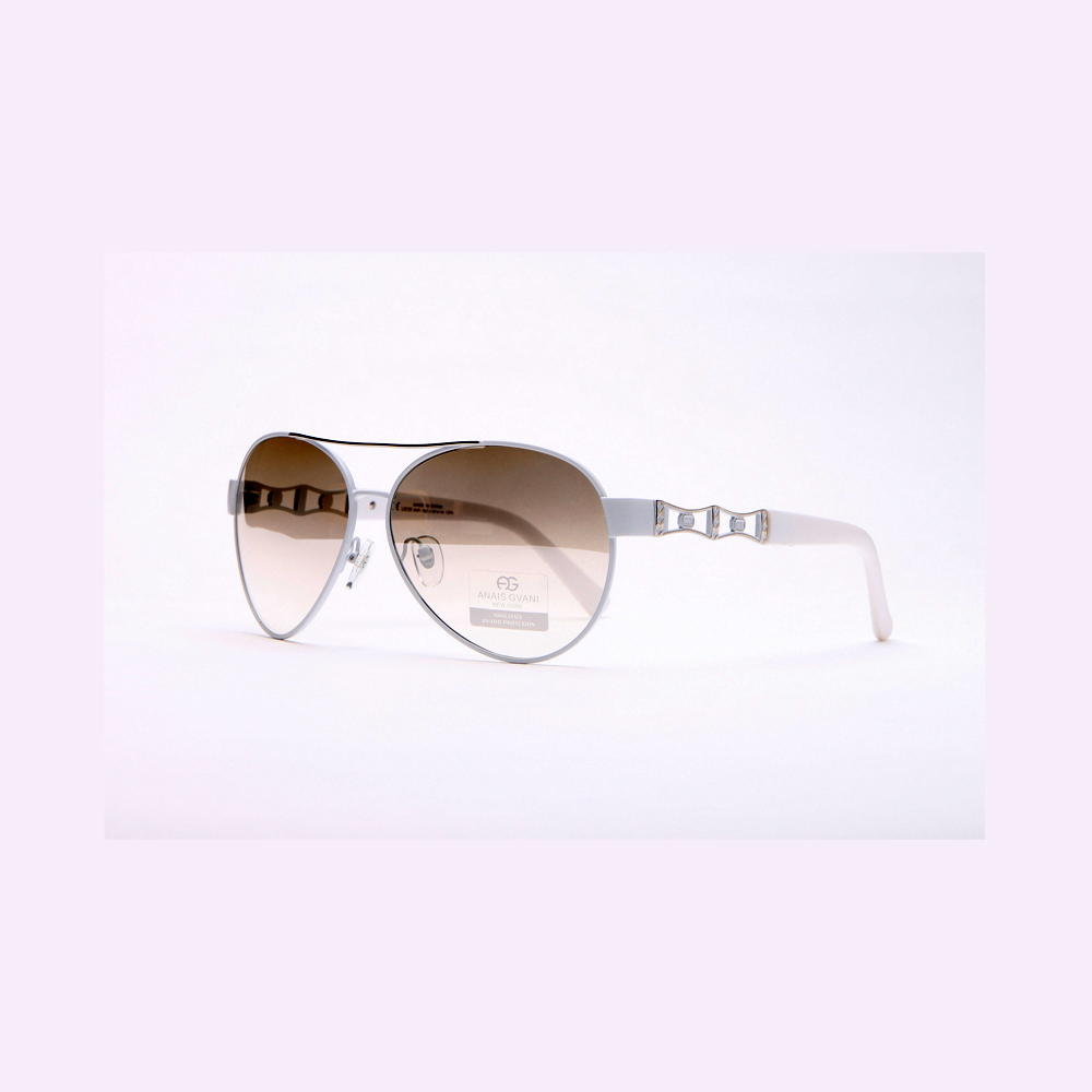Women's Fashion Aviators w/ Side Punch Out Design