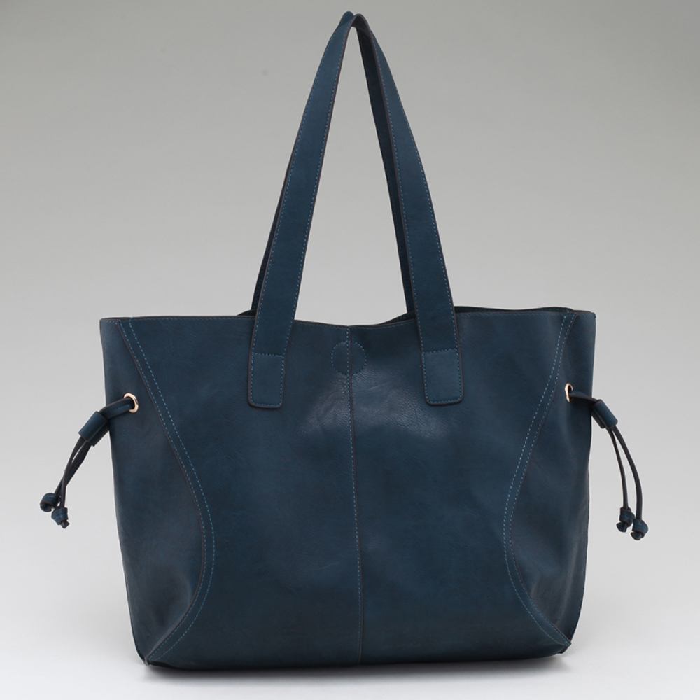 Alyssa Classic 2-in-1 Tote With Drawstring Accents