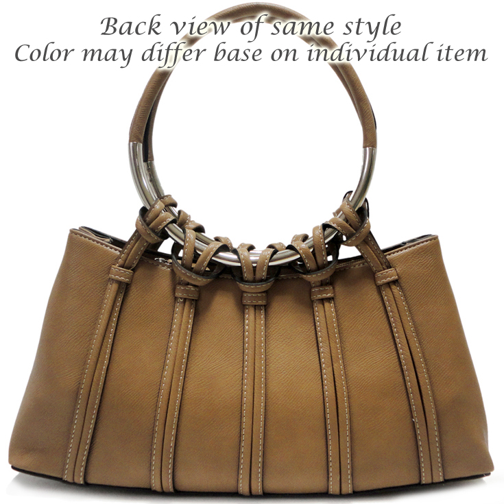 Dasein Designer Inspired Shoulder Bag With Looped In Ring Straps