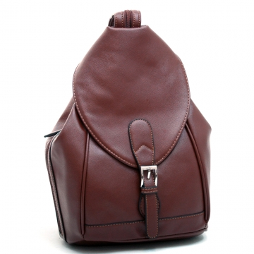 Dasein Convertible Stylish Backpack / Shoulder Bag with Zippered Strap-Coffee