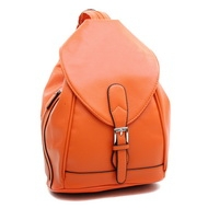 Dasein Convertible Stylish Backpack / Shoulder Bag with Zippered Strap-Orange