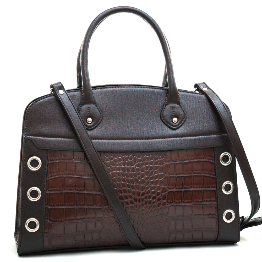 Dasein Kroco® Double Side Punchout Satchel