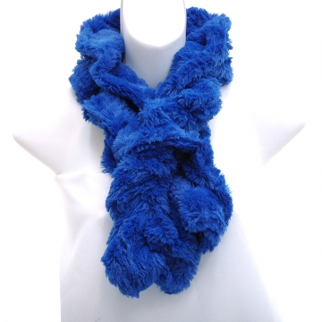 Faux Fur Boa Fashion Scarf-Royal Bue
