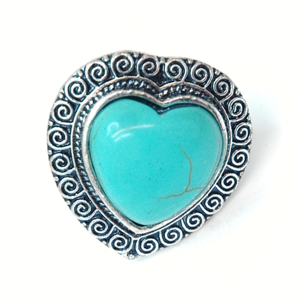 Greek Inspired Turquoise Ring w/ Heart Shape