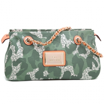 Anais Gvani ® Women's Camouflage Shoulder Bag with Chic Chain-Twined Strap-Light Green