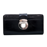 Anais Gvani® Bronx Park Push Buckle Genuine Leather Wallet