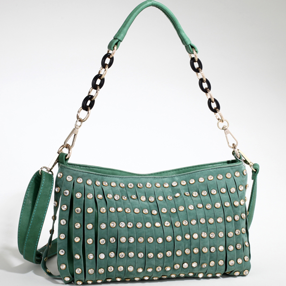 Alyssa® Rhinestone Studded Shoulder Bag