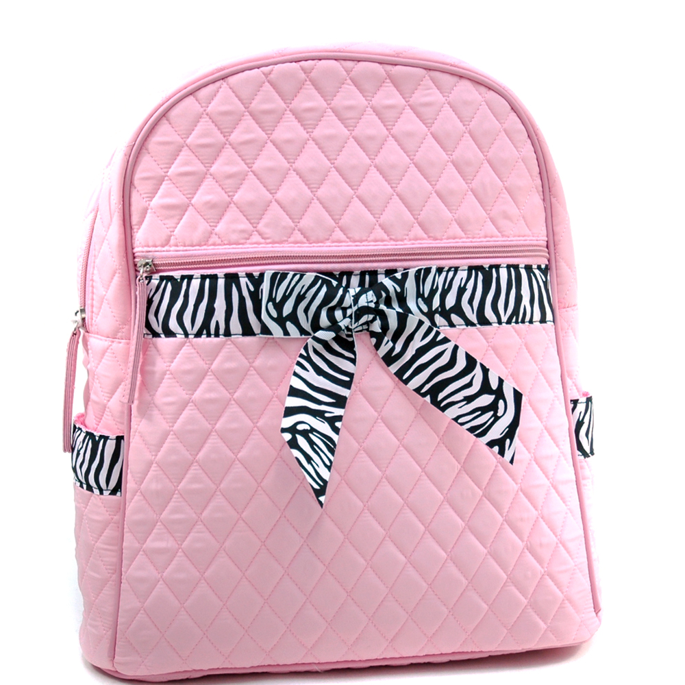Quilted Zebra Trim Convertible Backpack