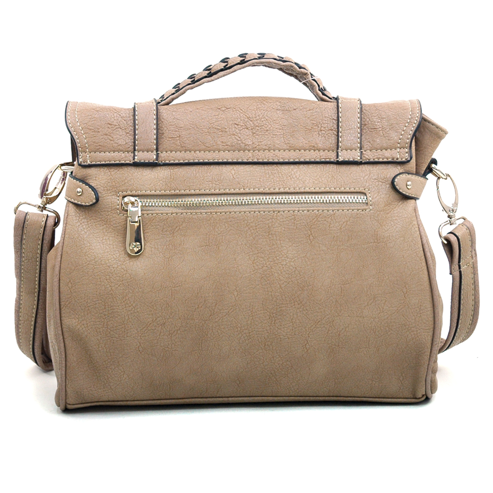 Anais Gvani® Worldwide Plaza Braided Handle Briefcase