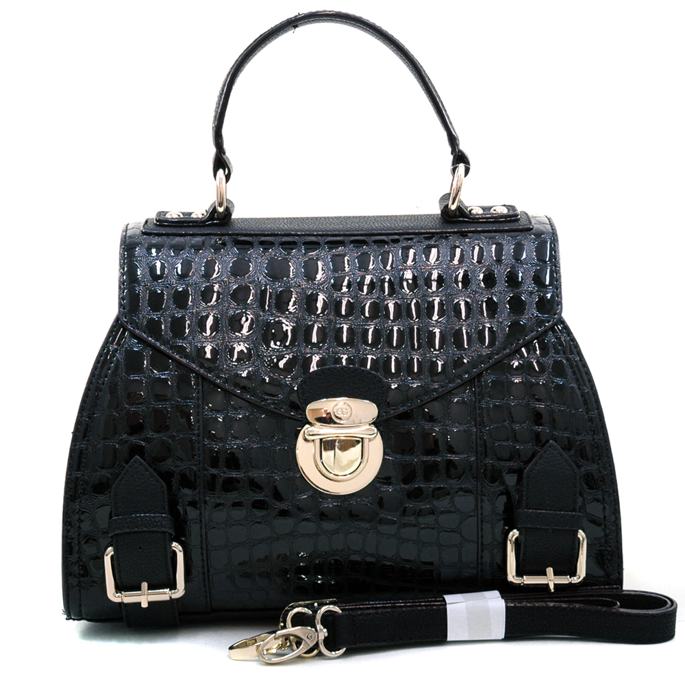 Anais Gvani® Battery Park Croco Envelope Satchel