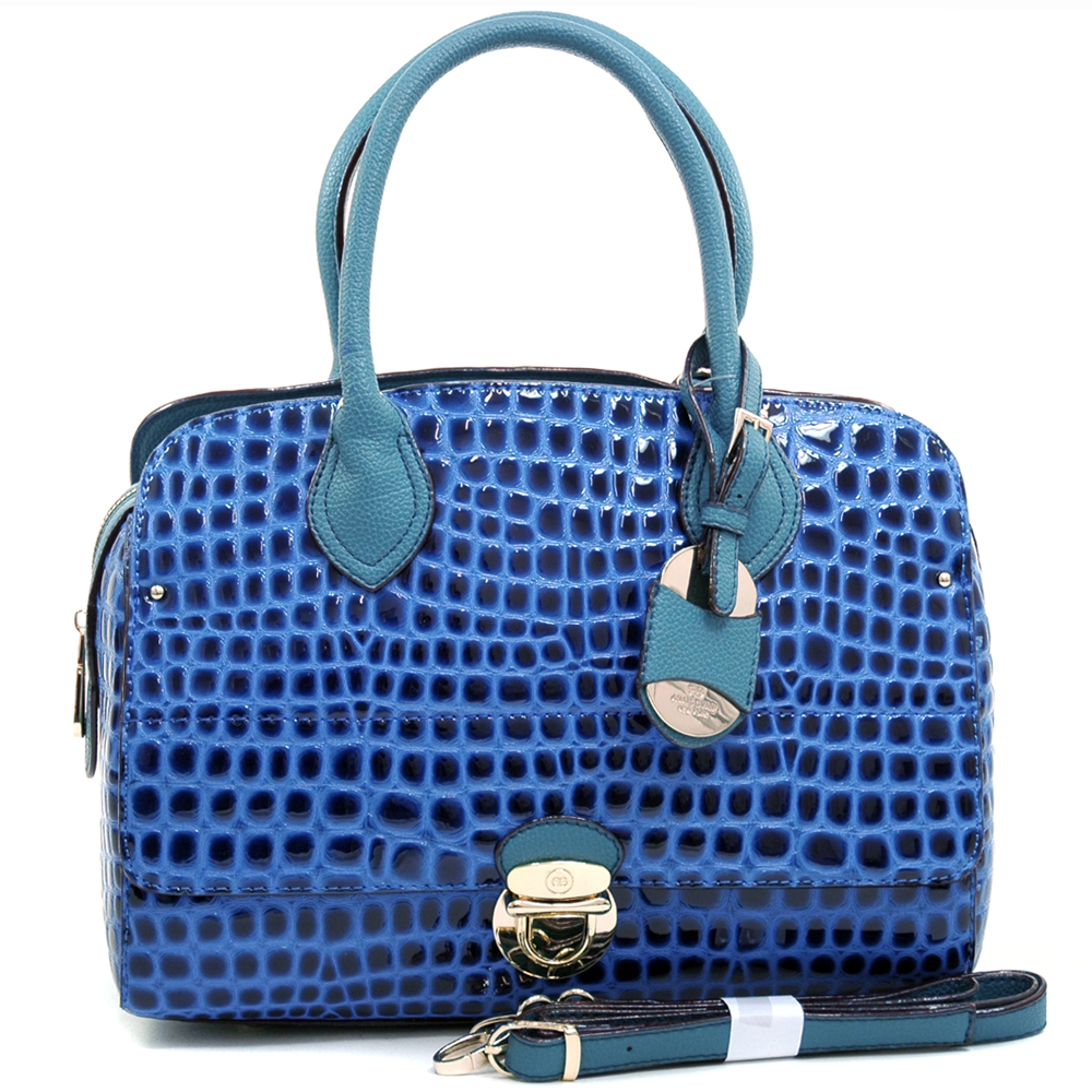 Anais Gvani® Battery Park Croco Barrel Satchel