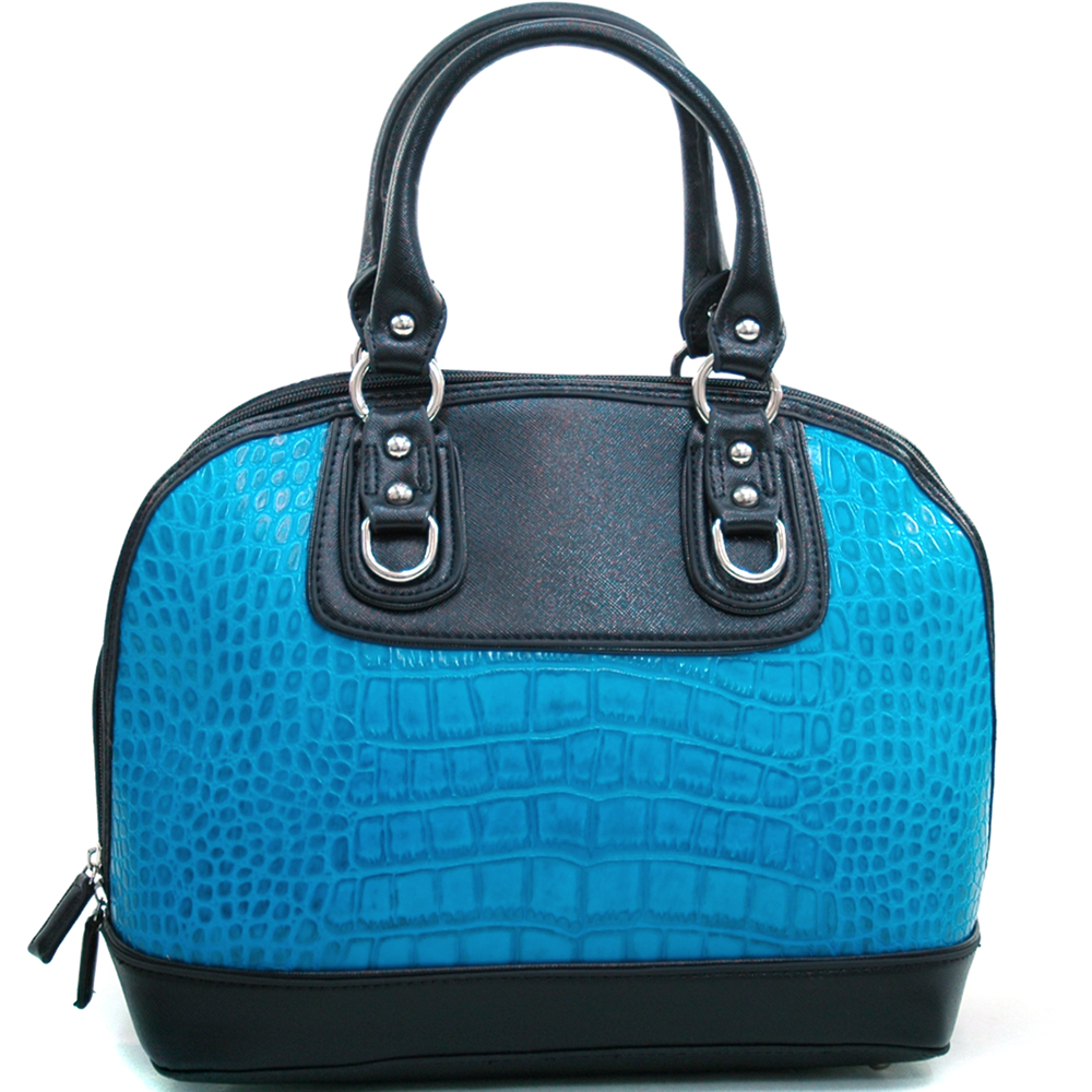 Dasein Kroco® Zip Around Satchel