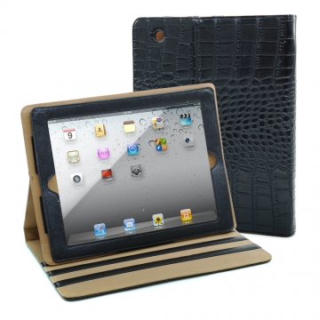 Dasein Fashion Matte Croco iPad 2 Compatible Case-Black