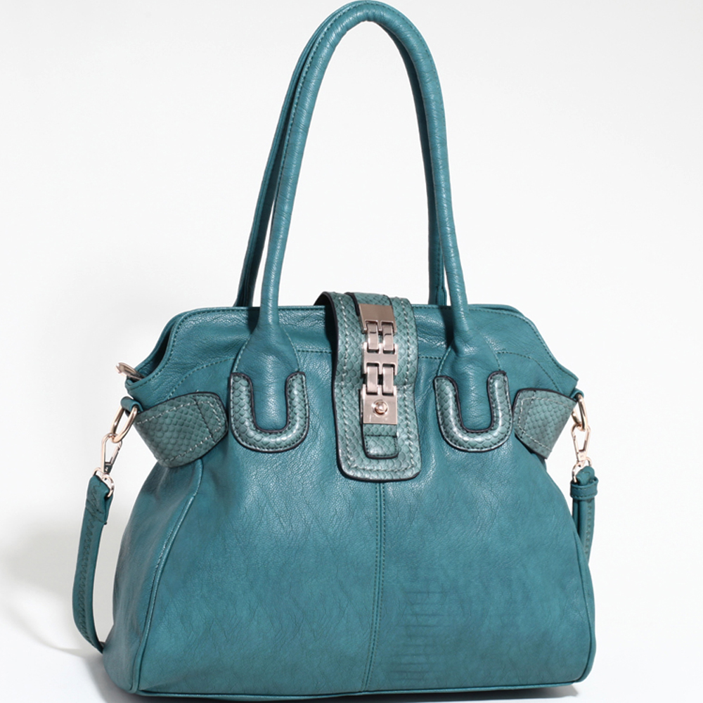 Emperia Shoulder Bag with Snakeskin Texture Trim