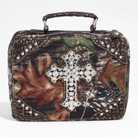Mossy Oak® Arctic Camo Rhinestone Cross Travel Bag