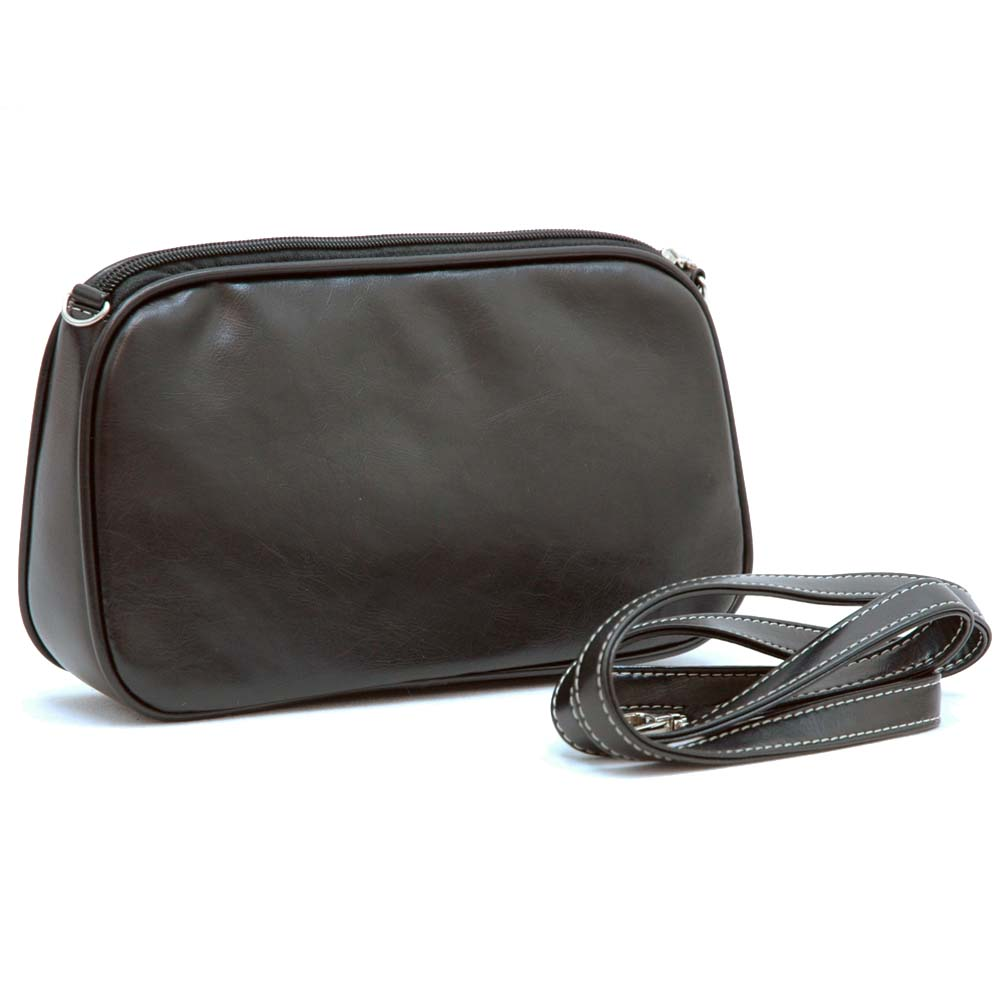 Vani Classic Fine Textured Satchel with Bonus Cosmetic Bag