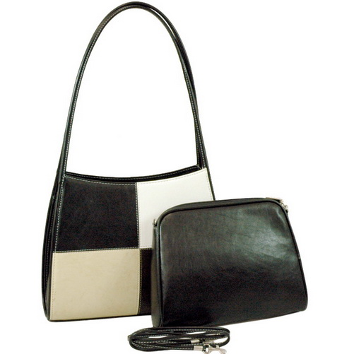 Vani Classic Shoulder Bag with Bonus Cosmetic Bag-Black/White/Beige/Coffee
