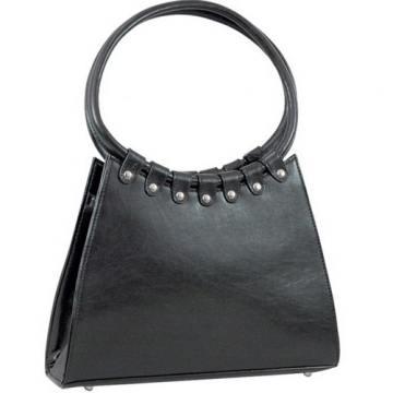 Vani Designer Inspired Fine Textured Shoulder Bag-Black