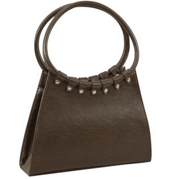 Vani Designer Inspired Fine Textured Shoulder Bag-Coffee