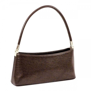 Vani Petite Classic Fine Textured Classic Shoulder Bag-Coffee