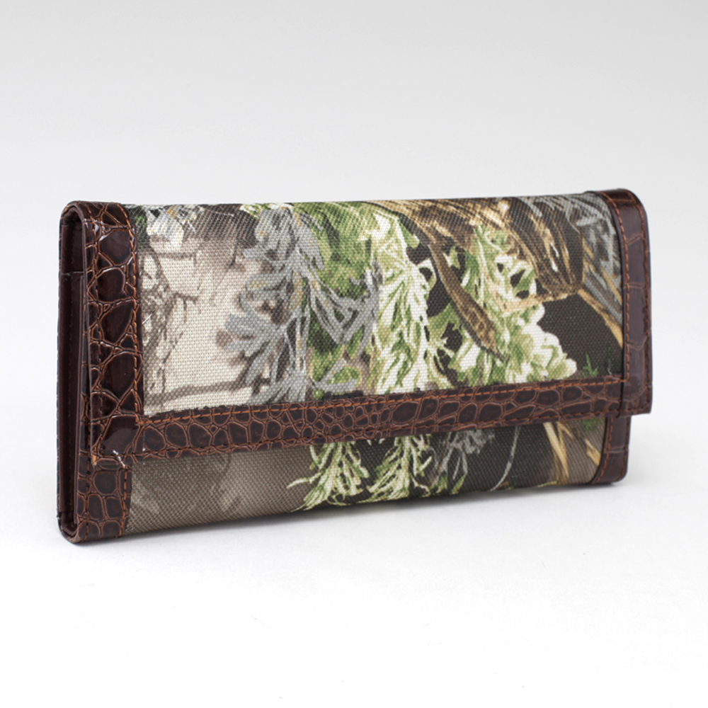 Realtree camouflage trifold checkbook wallet - Black