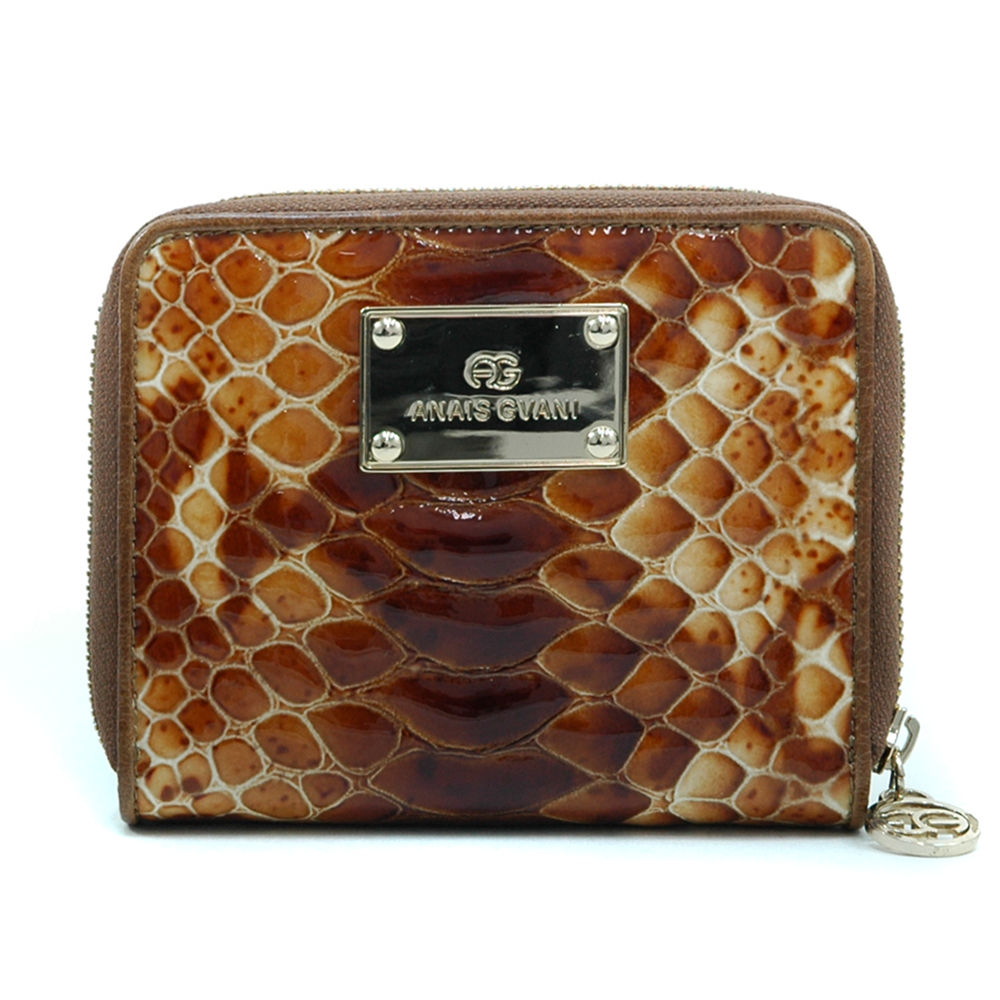 Anais Gvani® Sakura Park Snakeskin Genuine Leather Zip Around Wallet