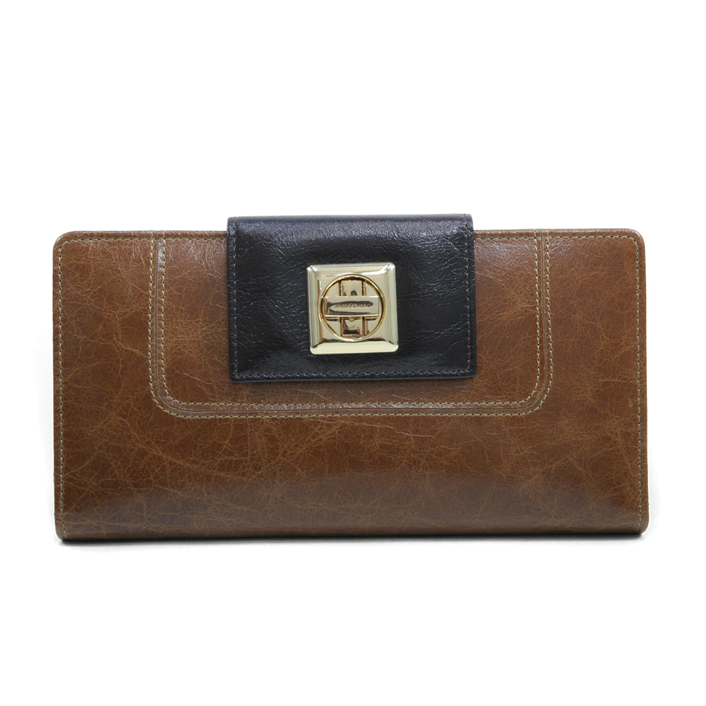 Anais Gvani® Bronx Park Turn-Lock Genuine Leather Wallet