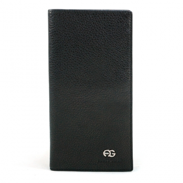 Anais Gvani ® Men's Genuine Top Grain Leather Long Bi-fold Wallet - Black