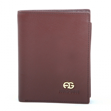 Anais Gvani ® Men's Genuine Fine Grain Leather Wallet - Brown