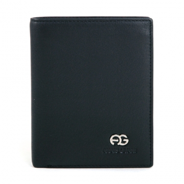 Anais Gvani ® Men's Genuine Smooth Leather Wallet - Black