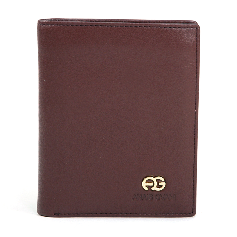 Brown Anais Gvani Men's Genuine Smooth Leather Wallet