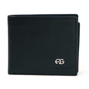 Anais Gvani ® Men's Classic Genuine Fine Grain Leather Wallet - Black