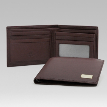 Anais Gvani ® Men's Smooth Genuine Italian Leather Wallet - Brown