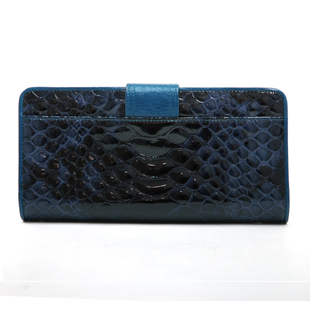 Anais Gvani® Sakura Park Snakeskin Genuine Leather Folded Wallet