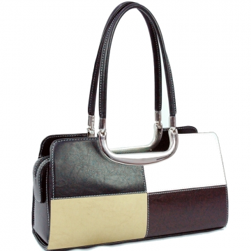 Vani Designer Inspired Fine Textured Classic Shoulder Bag-Black/White/Beige/Coffee