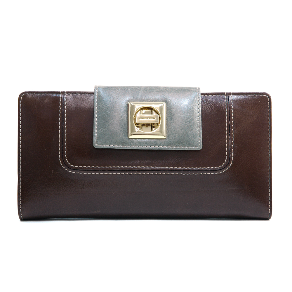 Anais Gvani® Tribeca Park Twist-Lock Genuine Leather Wallet
