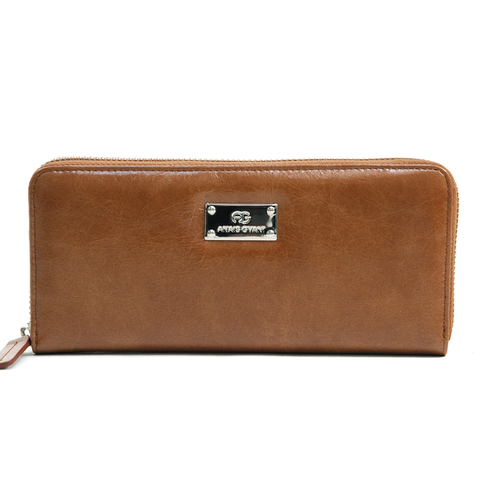 Anais Gvani® Columbus Park Genuine Leather Zip Around Wallet