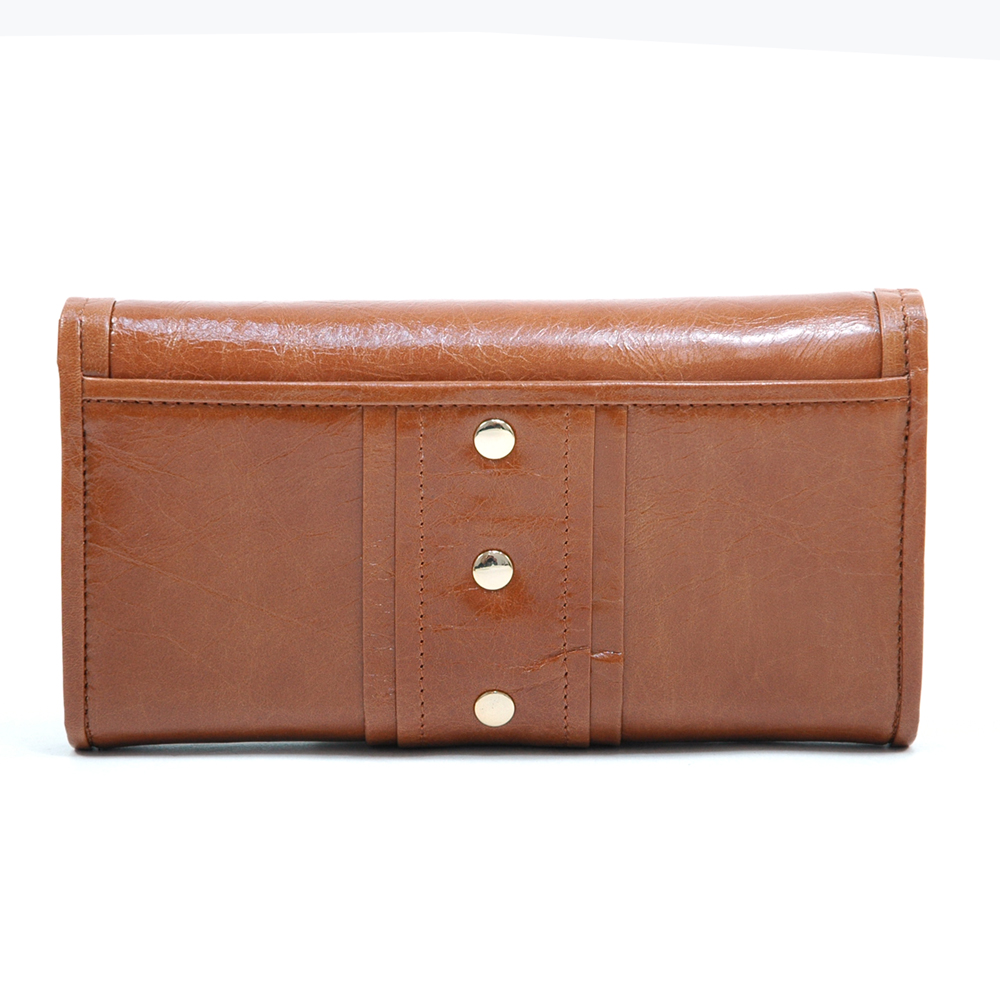 Anais Gvani® Columbus Park Turn-Lock Genuine Leather Wallet