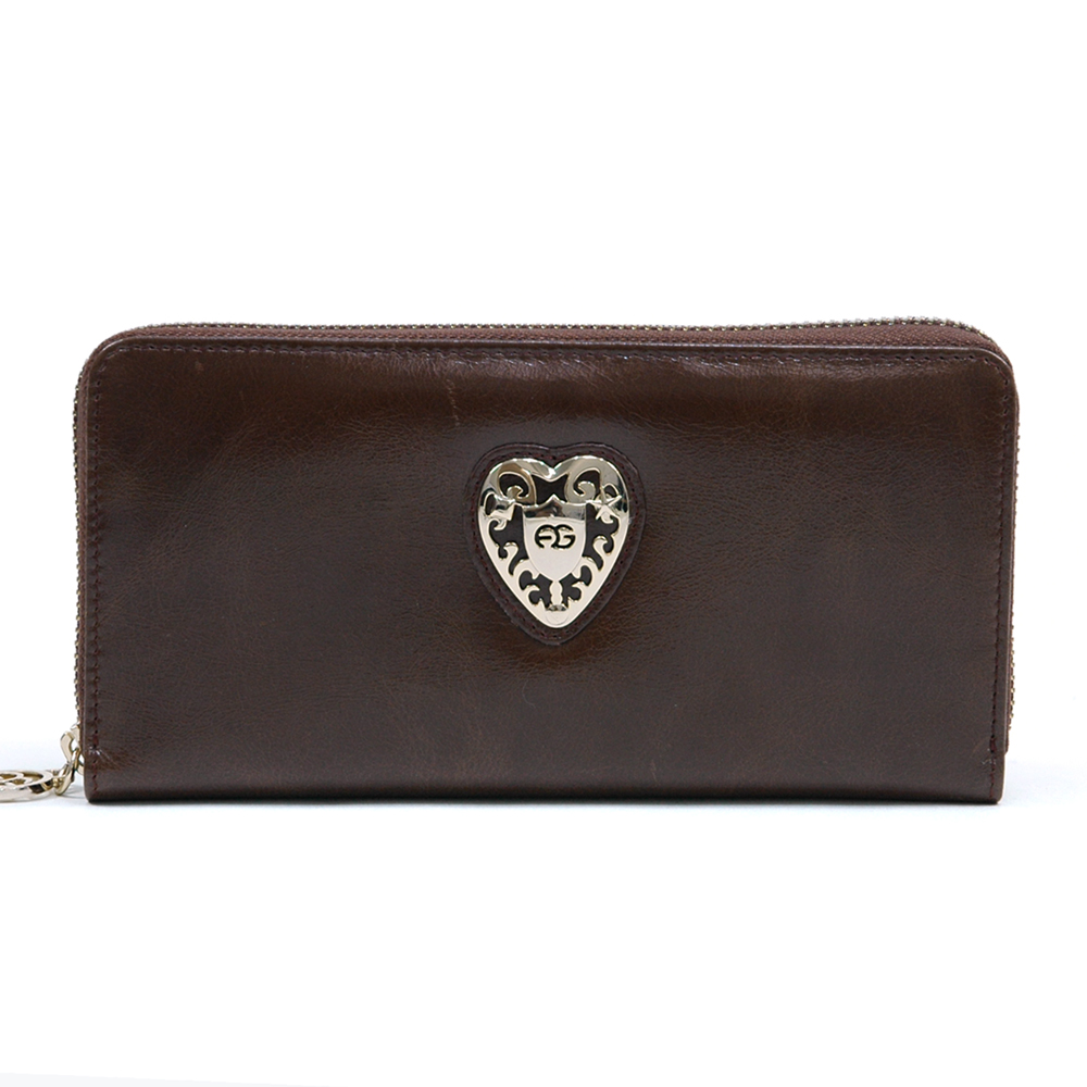 Anais Gvani® Tribeca Park Heart Logo Genuine Leather Wallet