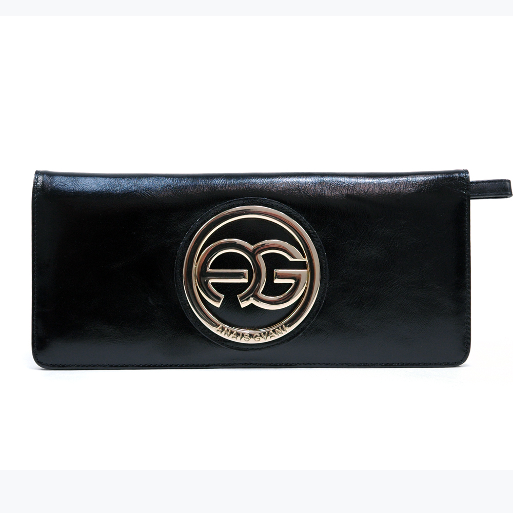 Anais Gvani® Tribeca Park Round Logo Genuine Leather Wallet