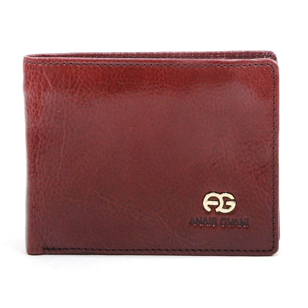 Anais Gvani® Kissena Park Semi-Shine Genuine Leather Men's Wallet