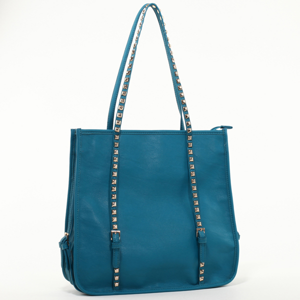 Emperia Square Fashion Shoulder Bag with Studded Straps